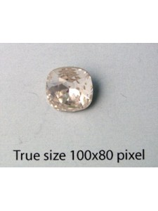 Swar Square Stone Rd edges 10mm Clear F