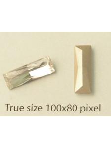 Swar Stone Princ Baguette 15x5mm Clear F
