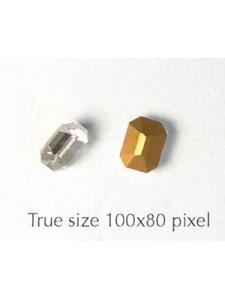 Swar Octagonal Stone 8x6mm Clear Foiled