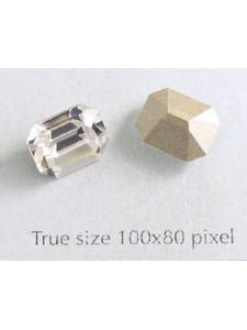 Swar Octagonal Stone 10x8mm Clear