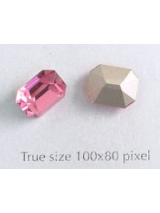 Swar. Octagonal Stone 10x8mm Rose