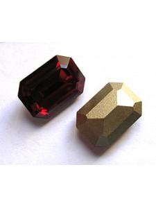 Swar Rectangular Stone 14x10mm Siam Red