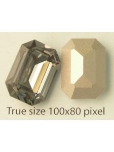 Swar Rect. Stone 18x13mm Black Diamond F