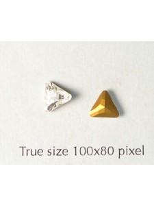 Swar Triangular Stone 6mm Clear