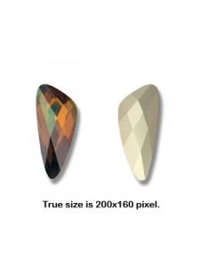 Swar Wing Stone 32x13.5mm Copper