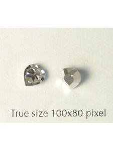 Swar Heart Stud Stone Clear