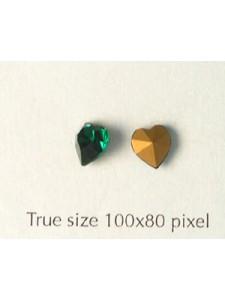 Swar Heart Stud Stone Emerald