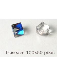 Swar Slant Cube Stud Stone Bermuda Blue