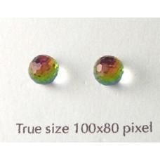 Swar Berry Stud Stone Rainbow