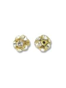 Swar Ball 8mm Clear Gold Plated