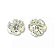 Swar Ball 10mm Clear Silver Plated