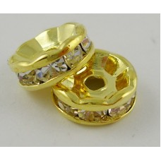 Diamonte Rondel (ASIA) 5mm Clr Gold plat