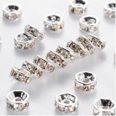 Diamonte Rondel (ASIA) 6mm Clr Silver Pl
