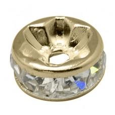 Diamonte Rondel (ASIA) 8mm Clr RosGold P