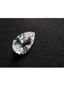 Pear Pendant Zirconia 14x10mm Clear