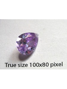 Pear Pendant Zirconia 14x10mm Lavender