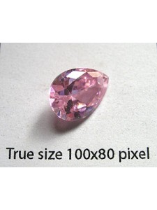 Pear Pendant Zirconia 14x10mm Pink