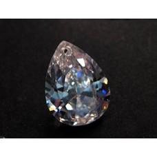 Pear Pendant Zirconia 18x13mm Clear