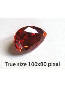 Pear Pendant Zirconia 18x13mm Garnet