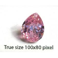 Pear Pendant Zirconia 18x13mm Pink