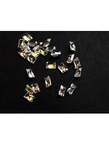 Cubic Zirc.  Baguette 3x2mm White -25pcs