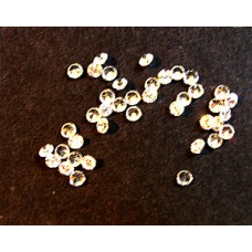 Cubic Zirconia White 2.15mm Round -25pcs