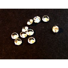 Cubic Zirconia White 3.50mm Round -10pcs
