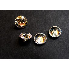 Cubic Zirconia White 6.00mm Round -4pcs