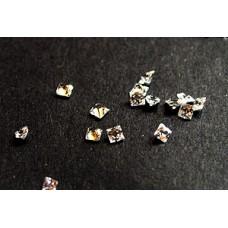 CZ Square Princess 2x2mm White - 20pcs