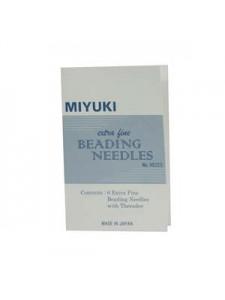 Miyuki X Fine Beadi Needle 6pcs+Threader