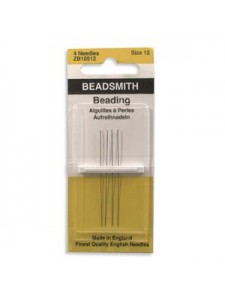 Beading Needles #12 4/pkt English