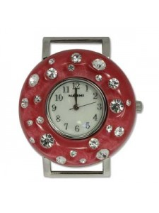 Watch Face Round Red 40mm