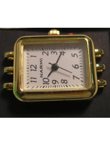 Watch Face Rectangle 3 strand Gold pl.