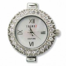Round Watch Face w/Crystal